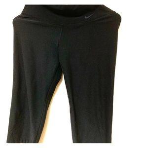 Nike DRI-FIT Cropped Leggings Black Size XS